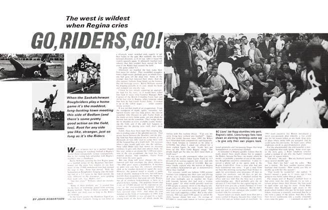 Article Preview: The west is wildest when Regina cries GO, RIDERS, GO!, August 1966 | Maclean's