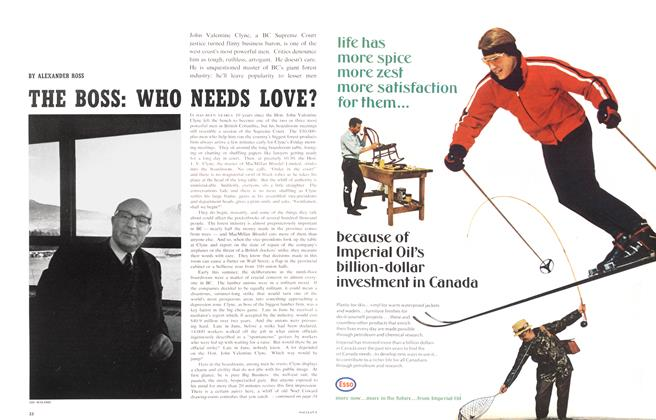 Article Preview: THE BOSS: WHO NEEDS LOVE?, August 1966 | Maclean's
