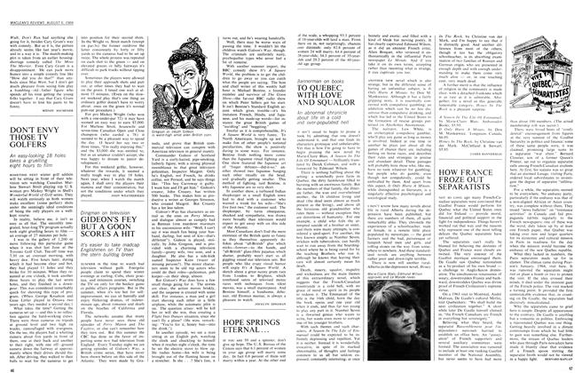 Article Preview: TO QUEBEC, WITH LOVE AND SQUALOR, August 1966 | Maclean's
