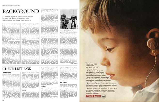 Article Preview: BACKGROUND, August 1966 | Maclean's