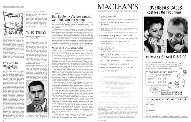 Article Preview: We're all short of clean water, August 1966 | Maclean's
