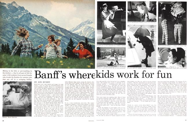 Article Preview: Banff's where kids work for fun, August 1966 | Maclean's