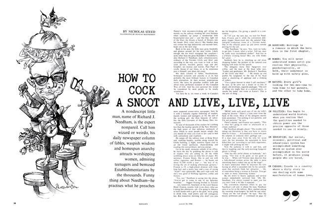 Article Preview: HOW TO COCK A SNOOT AND LIVE, LIVE, LIVE, August 1966 | Maclean's