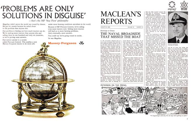 Article Preview: THE NAVAL BROADSIDE THAT MISSED THE BOAT, August 1966 | Maclean's