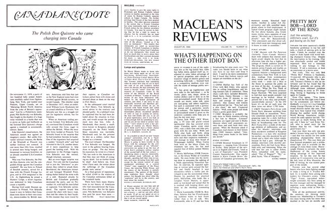 Article Preview: WHAT'S HAPPENING ON THE OTHER IDIOT BOX, August 1966 | Maclean's