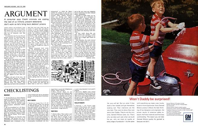 Article Preview: ARGUMENT, August 1966 | Maclean's