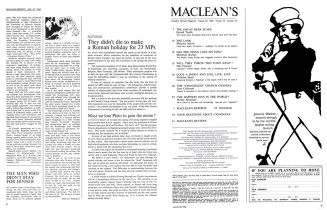 Article Preview: THE MAN WHO DIDN'T STAY FOR DINNER, August 1966 | Maclean's