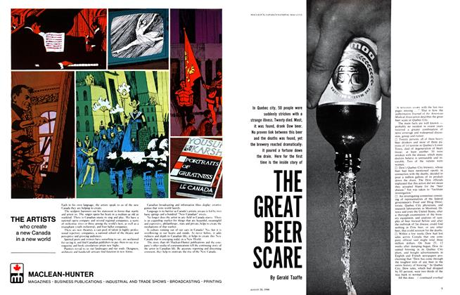 Article Preview: THE GREAT BEER SCARE, August 1966 | Maclean's