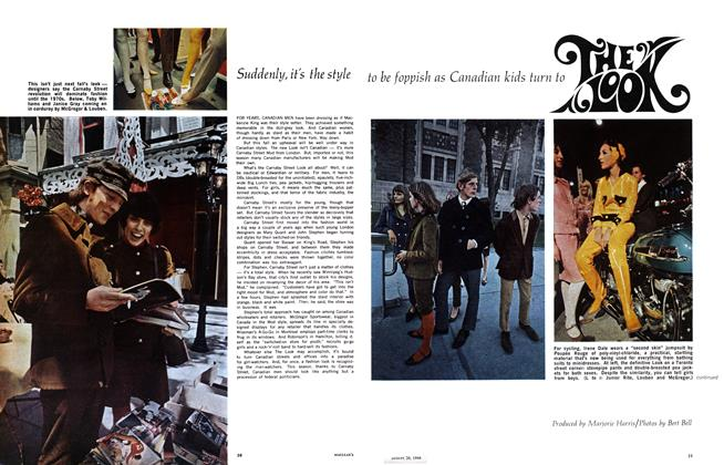 Article Preview: Suddenly, it's the style to be foppish as Canadian kids turn to, August 1966 | Maclean's