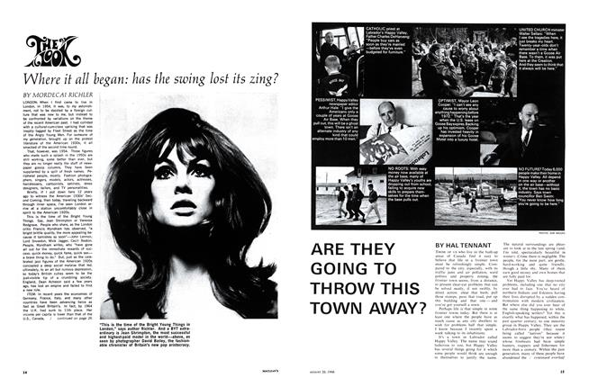 Article Preview: ARE THEY GOING TO THROW THIS TOWN AWAY?, August 1966 | Maclean's