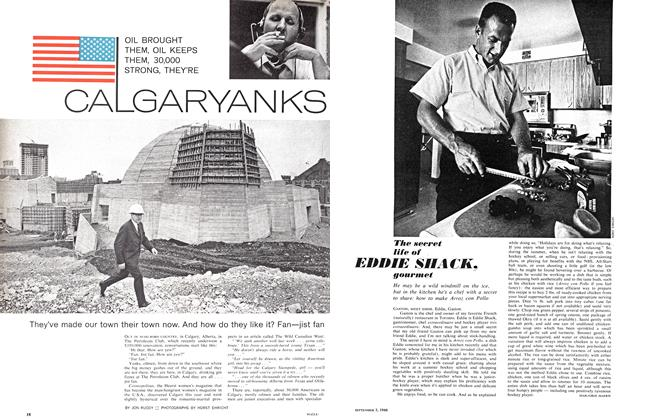 Article Preview: The secret life of EDDIE SHACK, gourmet, September 1966 | Maclean's