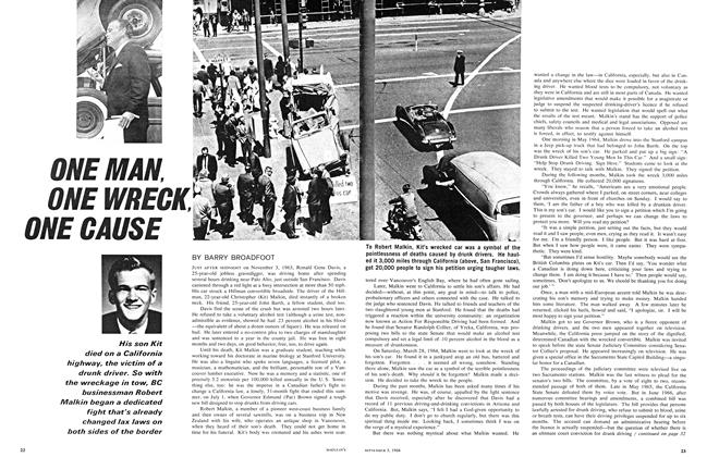 Article Preview: ONE MAN, ONE WRECK, ONE CAUSE, September 1966 | Maclean's