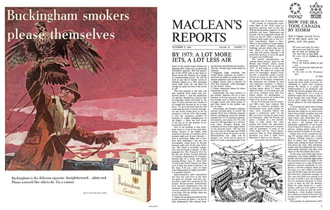 Article Preview: BY 1975: A LOT MORE JETS, A LOT LESS AIR, September 1966 | Maclean's