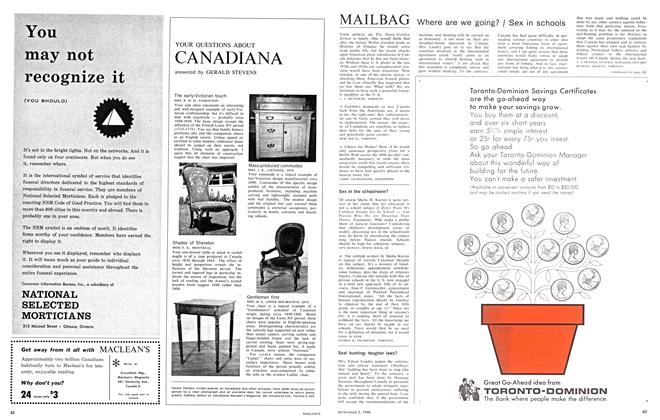 Article Preview: MAILBAG, September 1966 | Maclean's