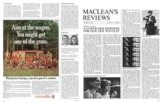 Article Preview: A LUKEWARM RESPONSE FOR OUR NEW WAVELET, September 1966 | Maclean's