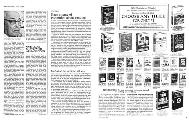 Article Preview: Lisa's dead but medicine will win, September 1966 | Maclean's