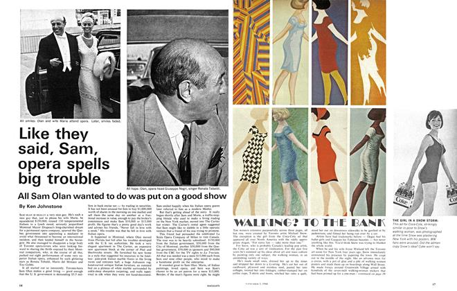 Article Preview: Like they said, Sam, opera spells big trouble, September 1966 | Maclean's