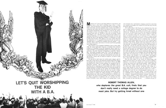 Article Preview: LET'S QUIT WORSHIPPING THE KID WITH A B.A., September 1966 | Maclean's