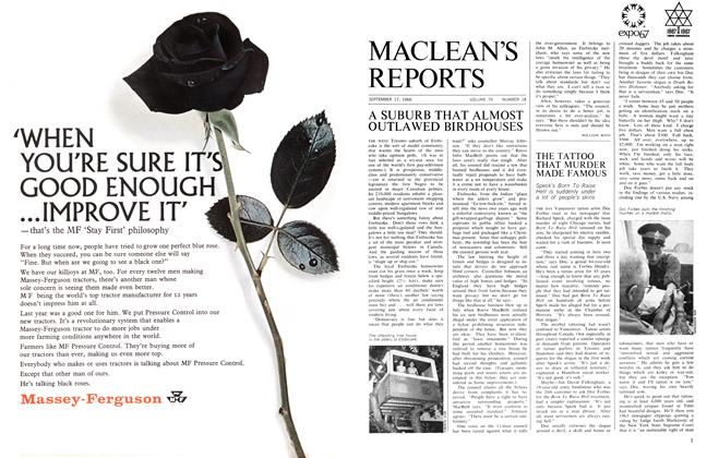 Article Preview: THE TATTOO THAT MURDER MADE FAMOUS, September 1966 | Maclean's