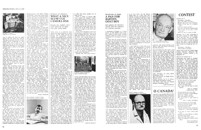 Article Preview: A PAN FOR BARTH'S GOAT-BOY, September 1966 | Maclean's