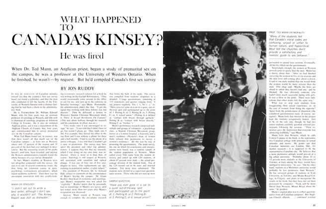 Article Preview: WHAT HAPPENED TO CANADA'S KINSEY? He was fired, October 1966 | Maclean's