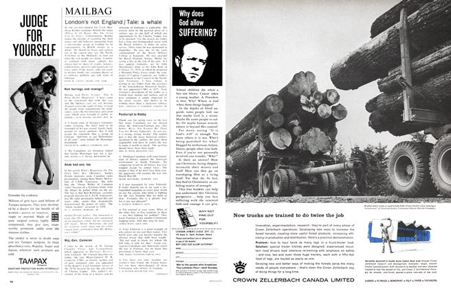 Article Preview: MAILBAG, October 1966 | Maclean's