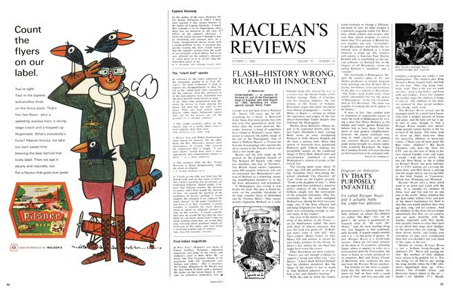Article Preview: FLASH-HISTORY WRONG, RICHARD III INNOCENT, October 1966 | Maclean's