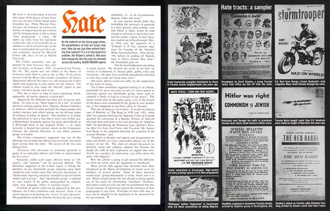 Article Preview: Hate, October 1966 | Maclean's