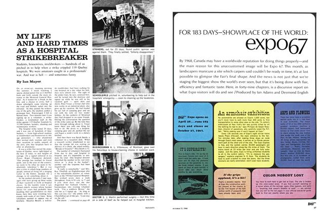 Article Preview: FOR 183 DAYS-SHOWPLACE OF THE WORLD: expo67, October 1966 | Maclean's
