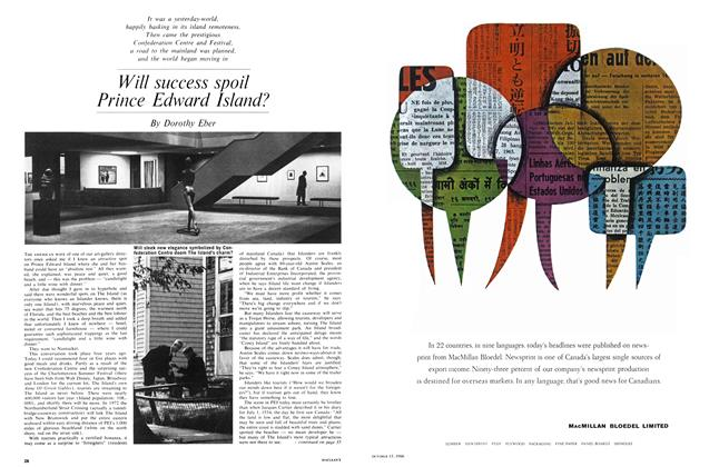 Article Preview: Will success spoil Prince Edward Island?, October 1966 | Maclean's