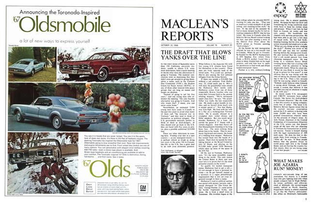 Article Preview: WHAT MAKES JOE AZARIA RUN? MONEY!, October 1966   Maclean's