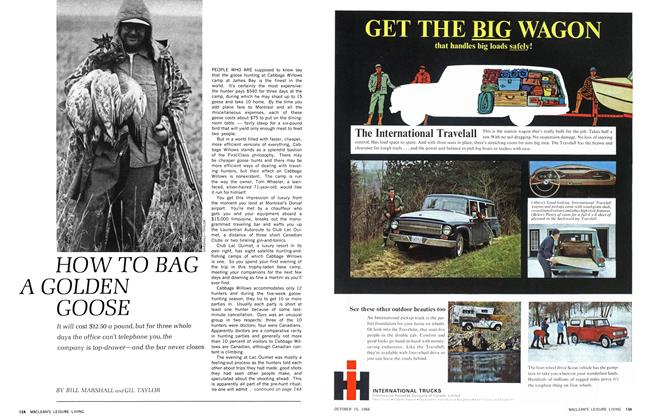 Article Preview: HOW TO BAG A GOLDEN GOOSE, October 1966 | Maclean's