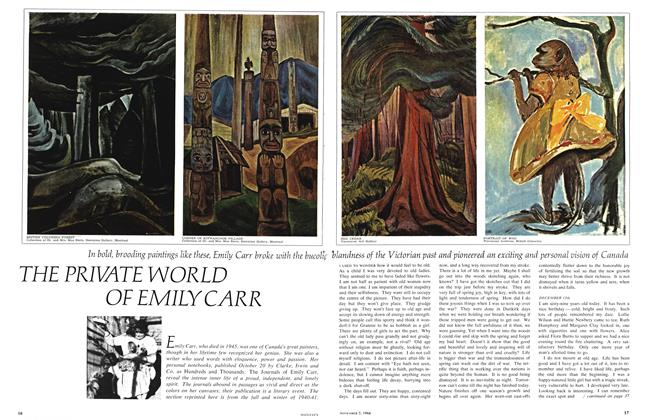 Article Preview: THE PRIVATE WORLD OF EMILY CARR, November 1966 | Maclean's