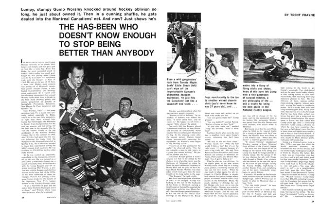 Article Preview: THE HAS-BEEN WHO DOESN'T KNOW ENOUGH TO STOP BEING BETTER THAN ANYBODY, November 1966 | Maclean's