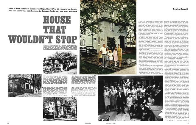 Article Preview: HOUSE THAT WOULDN'T STOP, November 1966 | Maclean's