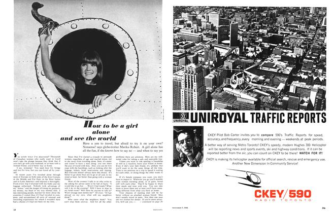 Article Preview: How to be a girl alone and see the world, November 1966 | Maclean's