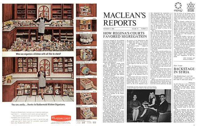 Article Preview: HOW REGINA'S COURTS FAVORED SEGREGATION, November 1966 | Maclean's
