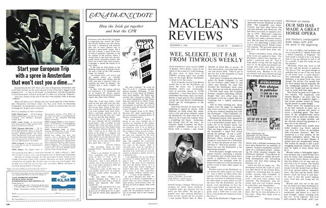 Article Preview: OUR SID HAS MADE A GREAT HORSE OPERA, November 1966 | Maclean's