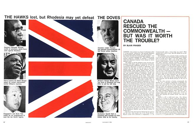 Article Preview: CANADA RESCUED THE COMMONWEALTH — BUT WAS IT WORTH THE TROUBLE?, November 1966 | Maclean's