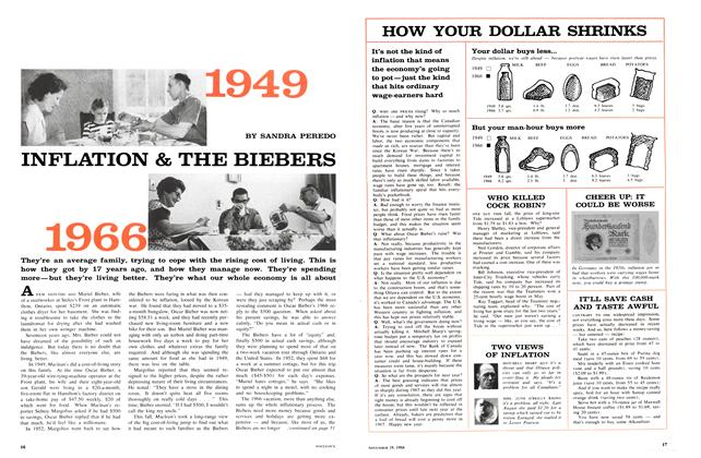 Article Preview: INFLATION & THE BIEBERS, November 1966 | Maclean's