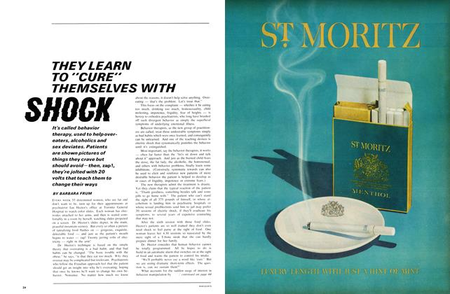 """Article Preview: THEY LEARN TO """"CURE"""" THEMSELVES WITH SHOCK, November 1966 