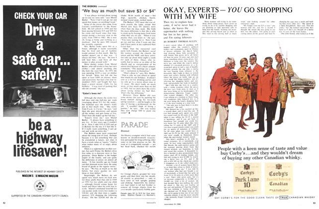 Article Preview: OKAY, EXPERTS— YOU GO SHOPPING WITH MY WIFE, November 1966 | Maclean's