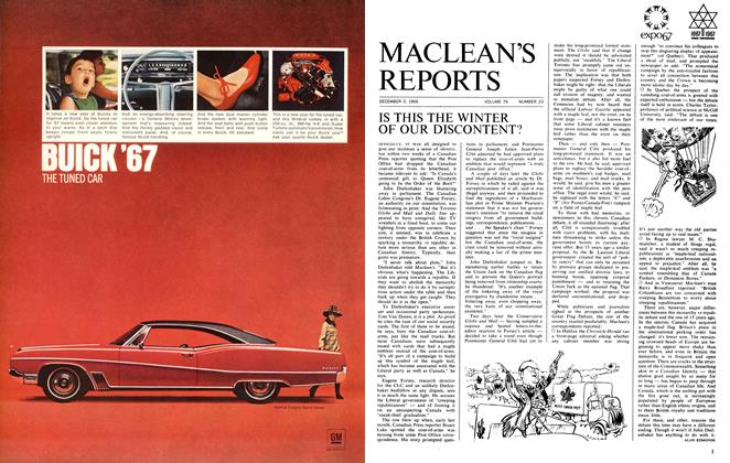 Article Preview: IS THIS THE WINTER OF OUR DISCONTENT?, December 1966 | Maclean's
