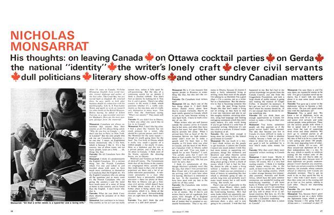 Article Preview: NICHOLAS MONSARRAT, December 1966 | Maclean's