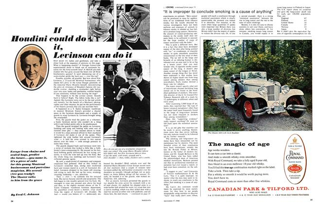Article Preview: If Houdini could do it, Levinson can do it, December 1966 | Maclean's