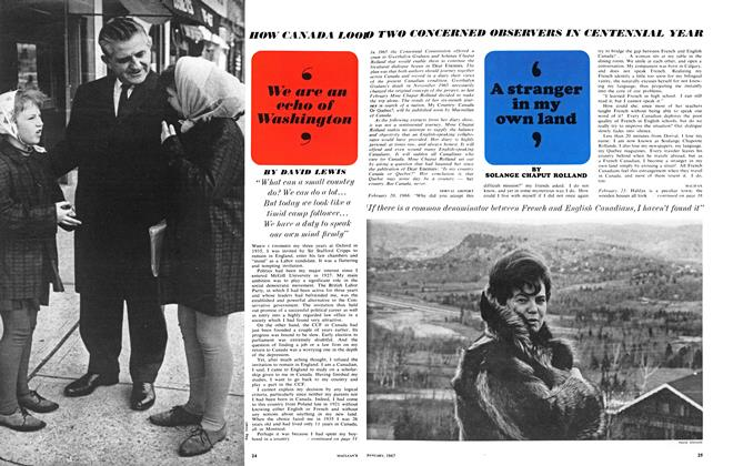 Article Preview: 'We are an echo of Washington', January 1967 | Maclean's