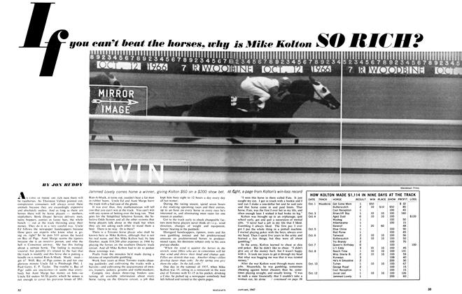 Article Preview: If you can't beat the horses, why, January 1967 | Maclean's