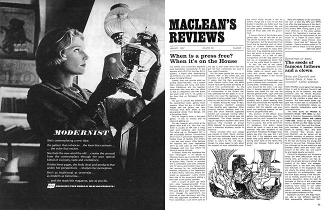 Article Preview: When is a press free? When it's on the House, January 1967 | Maclean's