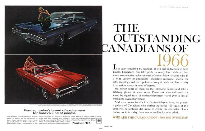 Article Preview: THE OUTSTANDING CANADIANS OF 1966, January 1967 | Maclean's