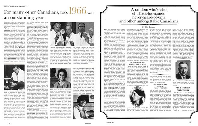 Article Preview: A random who's who of what's-his-names, never-heard-of-'ems and other unforgettable Canadians, January 1967 | Maclean's